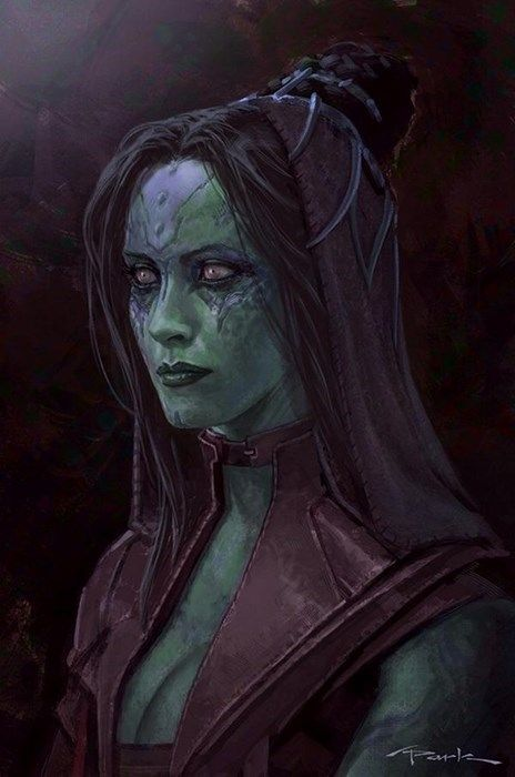 Andy Park's Awesome Concept Art For Guardians of the Galaxy- Gamora: The Deadliest Woman in The Universe