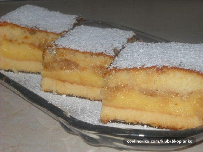 Šťavnatý vanilkový koláč s jablky | NejRecept.cz