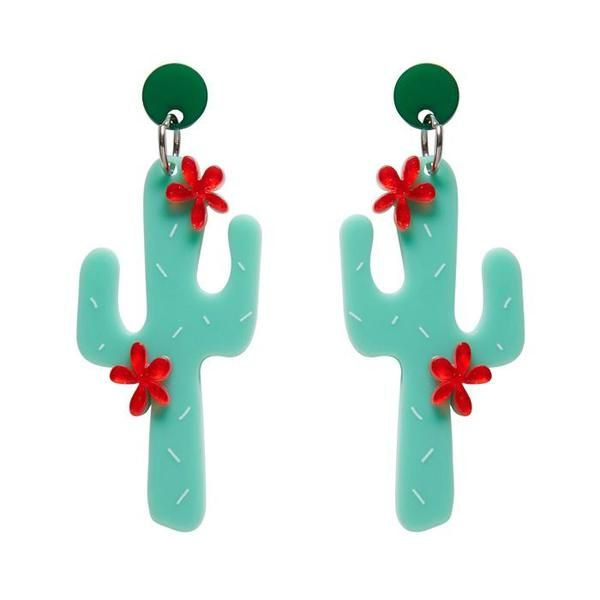 """Erstwilder Collectible Prickly Pair Earrings. """"Consuming the Prickly Pear before drinking alcohol may reduce some symptoms of hangover. Pity these are just stylish resin earrings."""""""