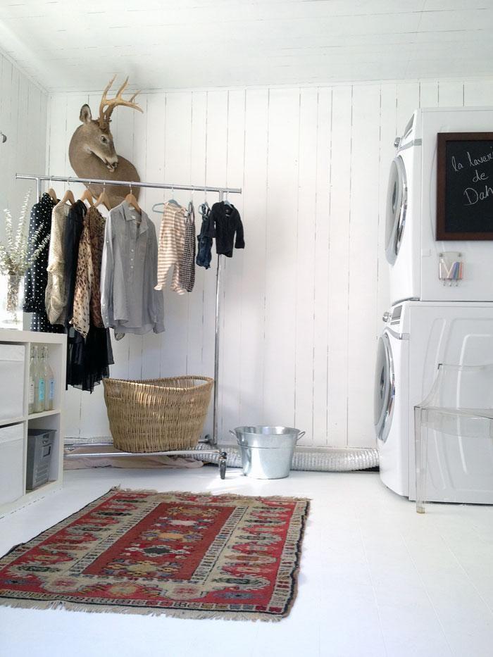 the prettiest laundry room.