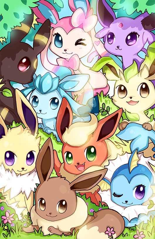 evee y sus evolusiones <3 <3 <3 <3 <3 <3 <3 ¡que tierno…