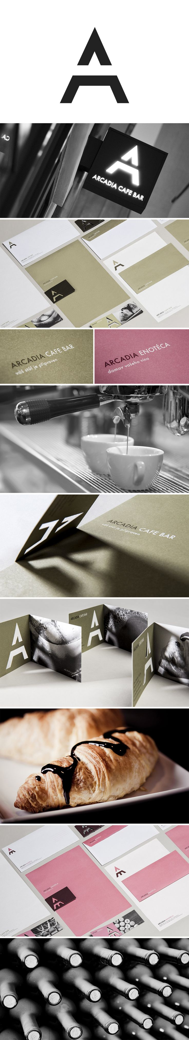 Arcadia Cafe Bar / Enoteca Logo and Visual Identity | Designed by Barbora Toman Tylova | Toman-design