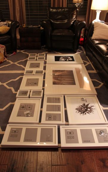 DIY photo gallery > I think these are Ikea frames! Very good possibility this…