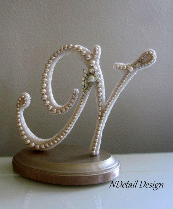 Vintage Monogram Wedding Cake Toppers Wedding Cake To...