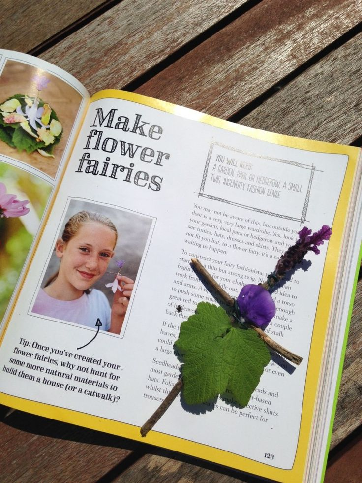 making flower fairies, nature crafts