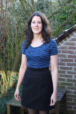 A basic black skirt based on my nurse's aprons!