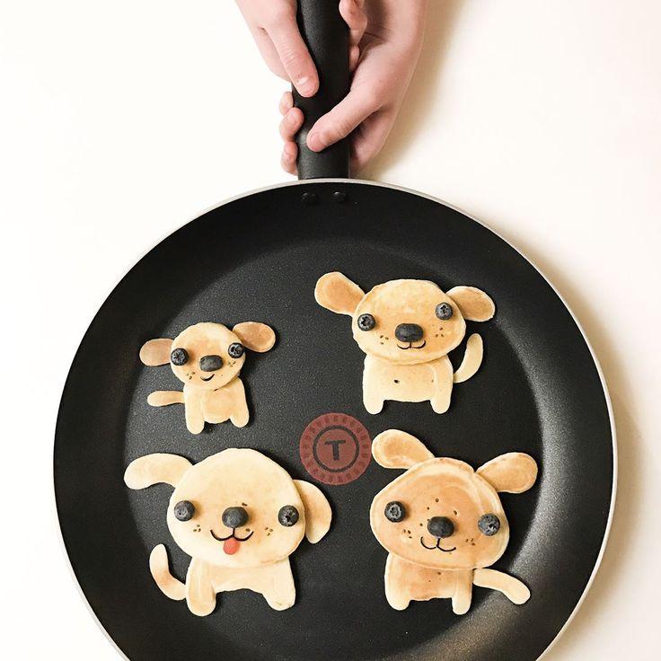 Puppy pancakes by m i c h a e l a (@cutechichai)