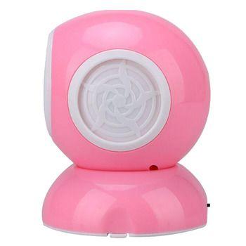 ABS Battery Operated Fan USB Mini Fan Bladeless Fan Portable Electric Fan Pink