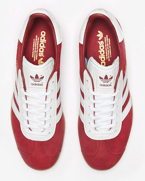 17b8819049f Adidas Gazelle trainers go back to basics in blue and red ...
