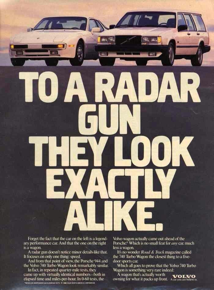 1980's Volvo ad.