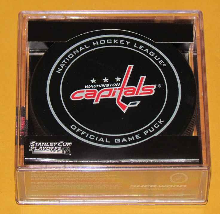 WASHINGTON CAPITALS 2015 Stanley Cup Playoffs OFFICIAL GAME PUCK NEW Team Logo #Sherwood #WashingtonCapitals