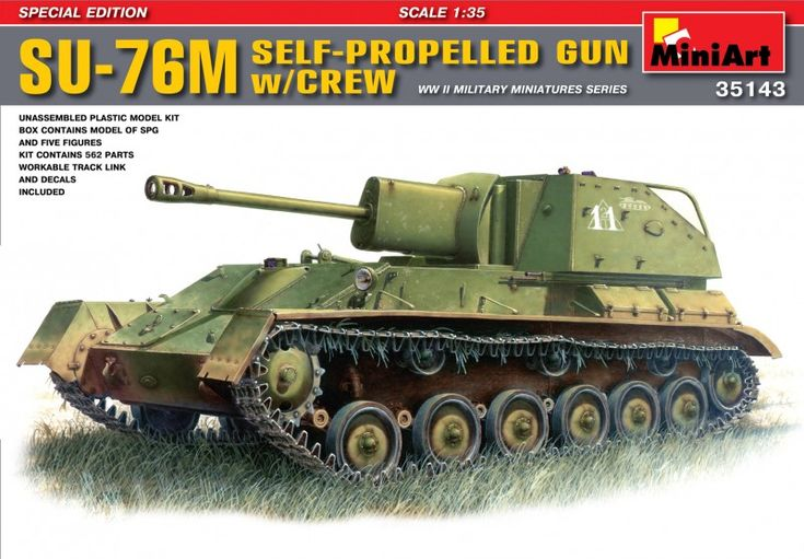 SU-76M  Soviet Self-Propelled Gun w/Crew – MiniArt 35143