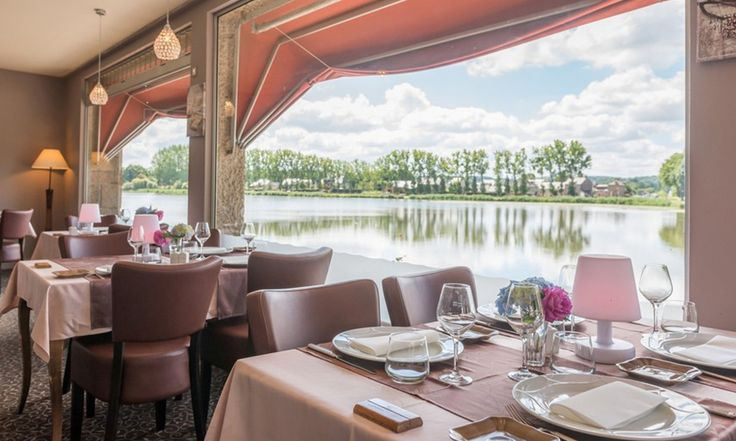 Hotel du Lac in Combourg, France #hotel #lakeview