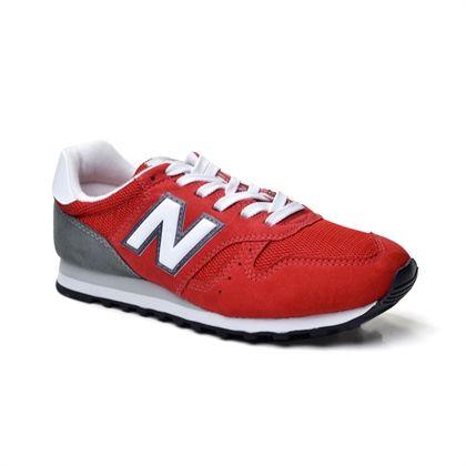 Tênis New Balance - Vermelho/Branco/Cinza