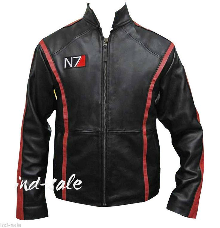 Custom Tailor Made All Sizes Genuine Leather Jacket Mass Effect 3 N7 Shepard ceeaf24eb4d01