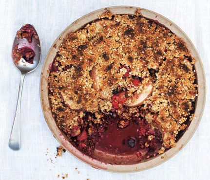 "Flourless Crumble via Gwyneth's ""It's All Good"" cookbook. #SelfMagazine"