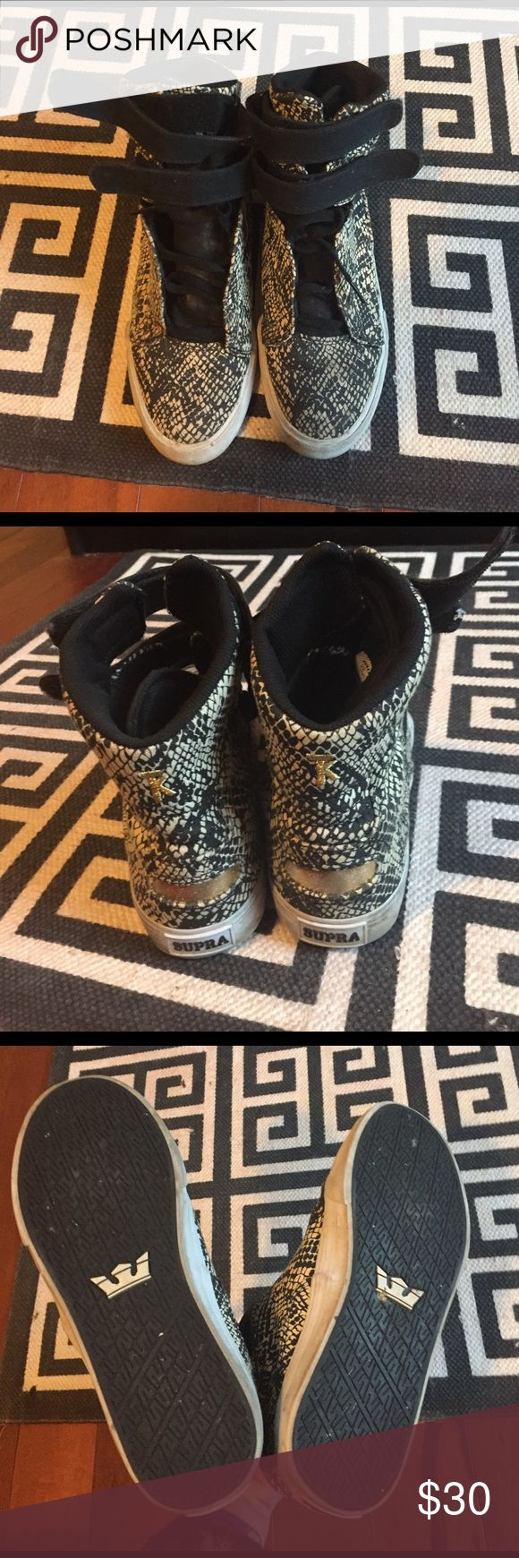 Python print supras Worn with love but a lot of life still in these puppies Supra Shoes Sneakers