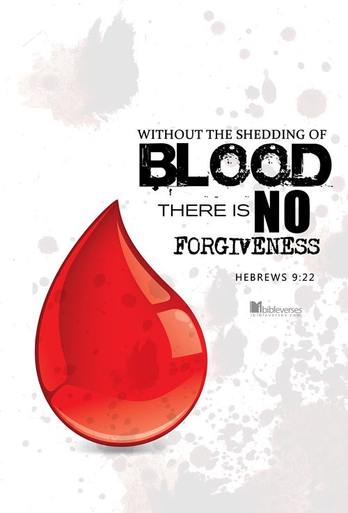 Downloads are available at http://ibibleverses.christianpost.com/?p=49265  In fact, the law requires that nearly everything be cleansed with blood, and without the shedding of blood there is no forgiveness. -Hebrews 9:22  #Hebrews #blood #forgiveness