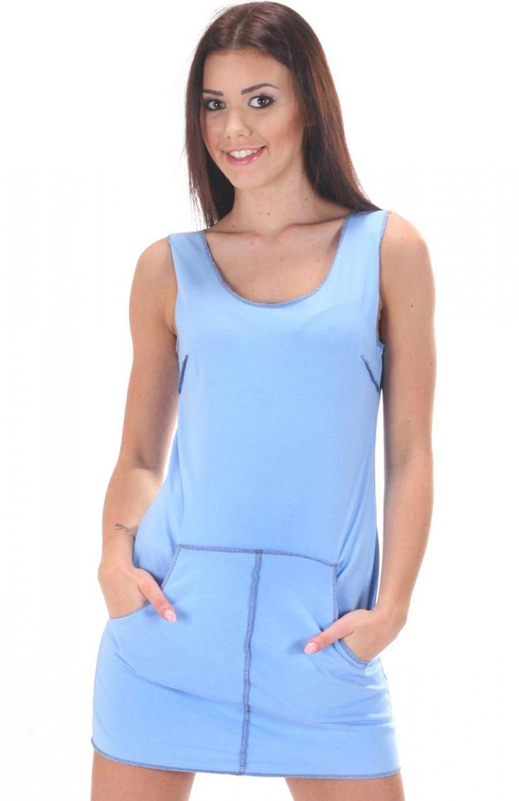 SIMMI S054 sukienka niebieski Sportowa sukienka