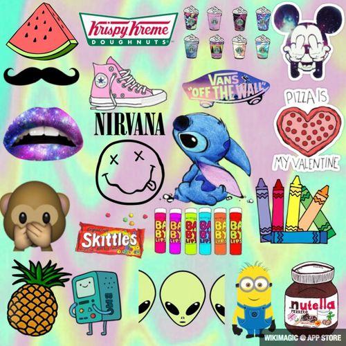 emoji crayons | Transparent wallpaper!  na We Heart It .