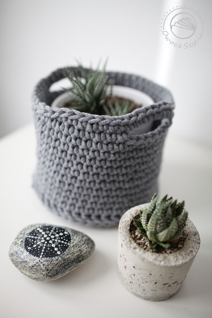 #succulents, #crochet basket