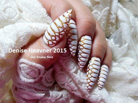 Marble or Granite nails / nail art using gel polish and Sharpie pens TUTORIAL - YouTube