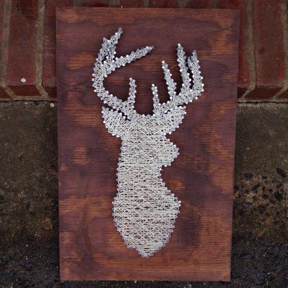 Custom String Art Deer Reindeer Magnolia Design