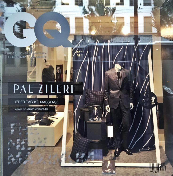 Masstage im Gränicher Urban Fashion Luzern mit Pal Zileri Window campaign 2016