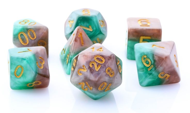 Halfsies Dice (Treant) RPG Role Playing Game Dice Set