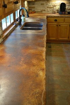 Awesome Stained Concrete Countertops Design Ideas, Pictures, Remodel And Decor