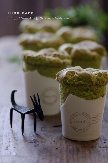 紙コップで作る!抹茶シフォンケーキ☆ | 美肌レシピ