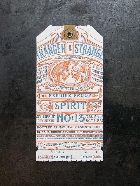 Stranger & Stranger Spirit Tag - Spirit No. 13 by Cranky Pressman, via Flickr