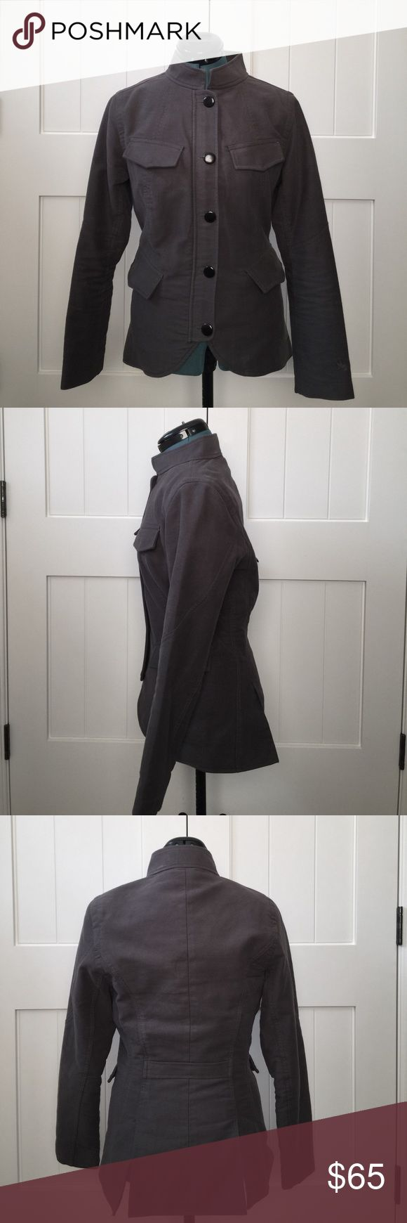 """Spiewalk Military Field Jacket Runs small. This jacket is made of thick cotton. It's fairly hefty. The color is grey/olive green. It's super stylish and perfect for a day in the 40's and 50's. Length is 25.5"""" Spiewalk Jackets & Coats Utility Jackets"""