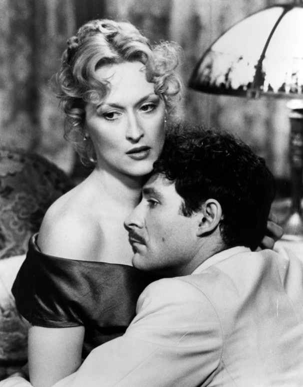 Meryl Streep in Sophie's Choice (1982) with Kevin Kline. The first Meryl Streep movie I ever saw. This new actress gave the most powerful, magnificent performance. I was transfixed! And she was GORGEOUS.....V
