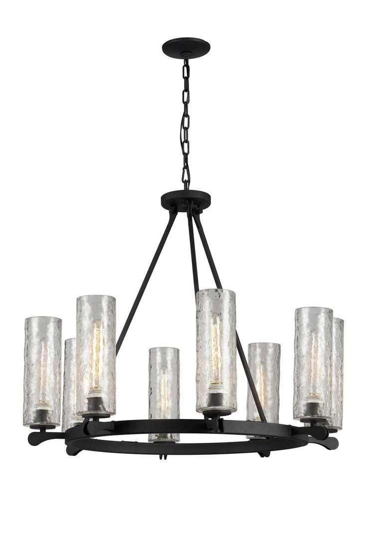 529 best lighting images on pinterest chandeliers pendant lamps hammered glass 8 light chandelier wheel arubaitofo Images