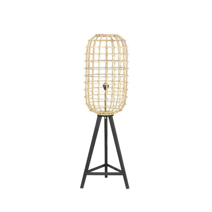 Natural Rattan Noah Floor Lamp from The Farthing