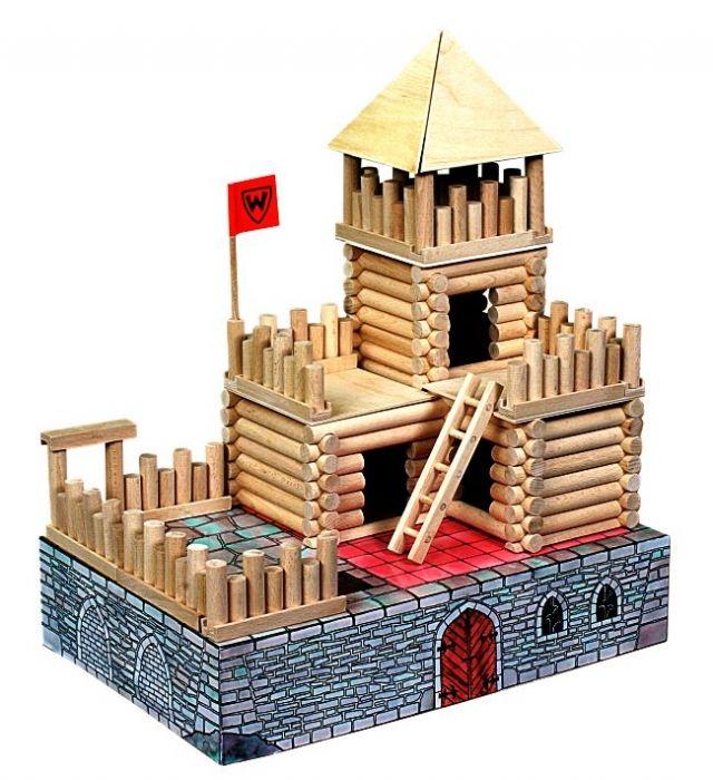 Pevnost - Hrad. Dřevěná stavebnice pro děti - Dřevěné hračky pro děti SOLY