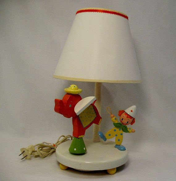 Nursery Originals Musical Lamp Childrens lamps, Vintage