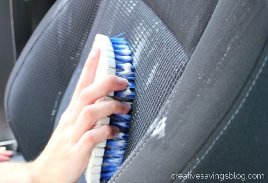 DIY Car Upholstery Cleaner...maybe I should try this?...
