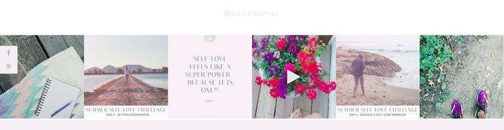 Bailey Opsal | Website Instagram Feed Design