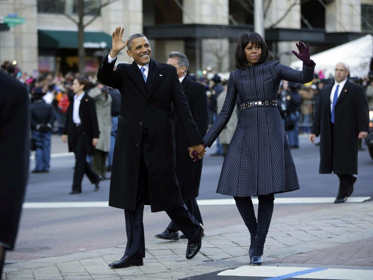 President Obama and the First Lady Walk In Inaugural Parade | Inauguration Live 2013: Obama Sworn In For Second Term