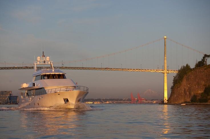 Spirit of 2010 under Lionsgate Bridge. #Yacht