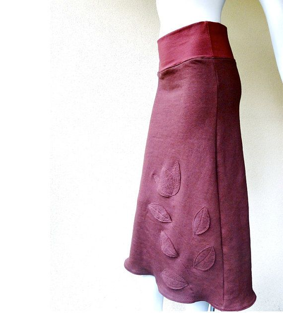 Long romantic skirt with aplique  custom handmade by econica, $95.00 Econica has lots of stylish clothes with a tailored but casual look.
