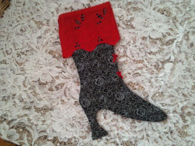 Nikolausstiefel - ♥ Viktorianische-Stiefelette 14-22 - ein Designerstück von raritaeten-kammerl bei DaWanda