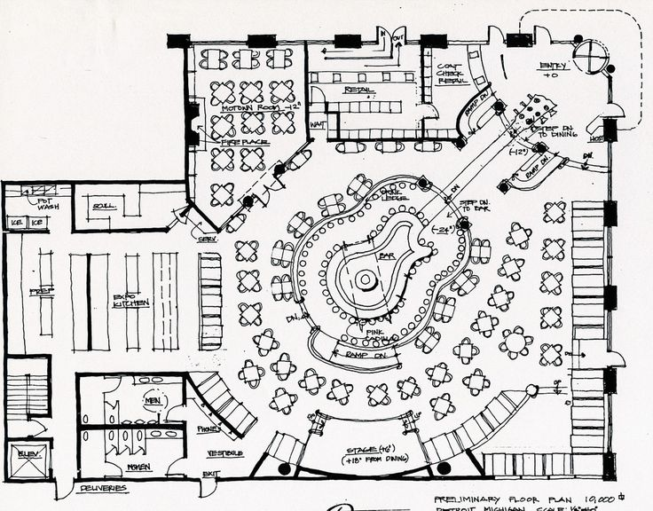 Detroit Hard Rock Cafe Floor Plan