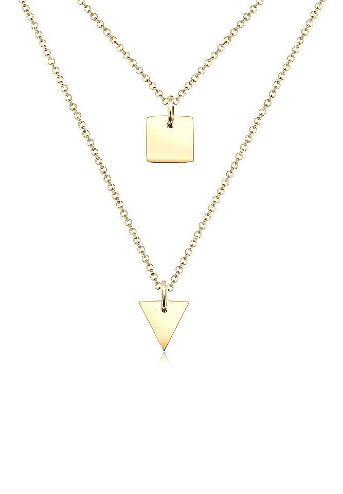 Elli Halskette »Dreieck Viereck Geo Layerkette 925 Sterling Silber« Jetzt bestellen unter: https://mode.ladendirekt.de/damen/schmuck/halsketten/silberketten/?uid=fb9099a7-08df-5ba3-8f1e-b6ac54253923&utm_source=pinterest&utm_medium=pin&utm_campaign=boards #schmuck #halsschmuck #halsketten #silberketten