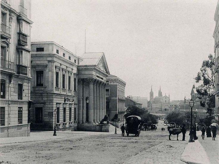 1891. Carrera de San Jeronimo Palacio de Congresos Vista de Real de los Jeronimos