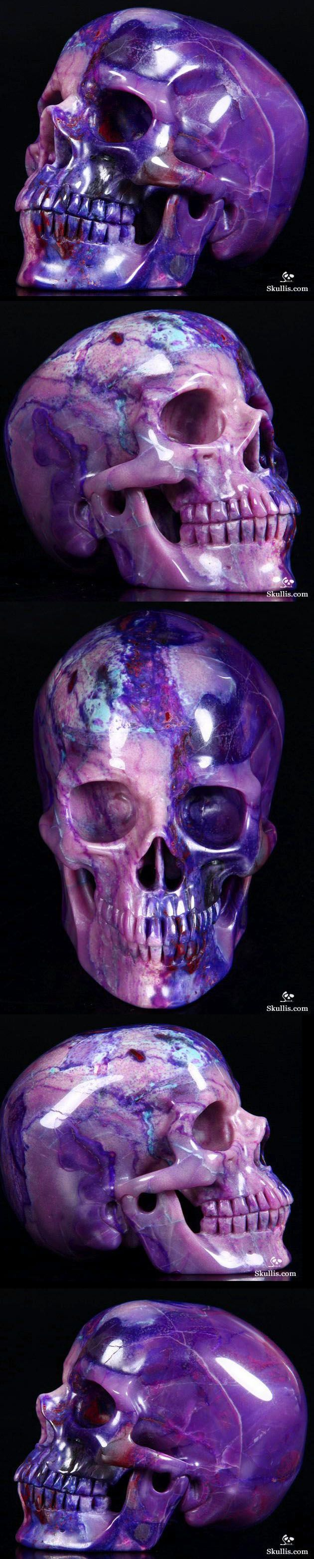 Hand Carved Sugilite Crystal Skull. If Only I Had An Extra $17,000