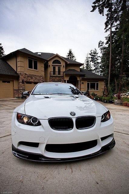 Glossy white BMW