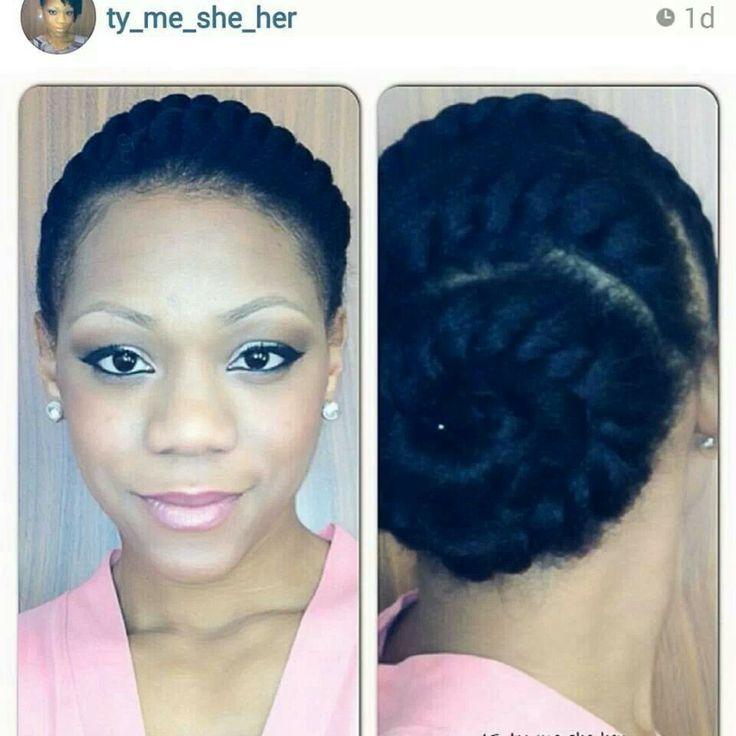 Natural hair flat twists